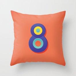 Alphabet Drop Caps Series- 8 Throw Pillow