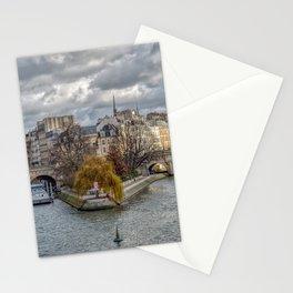 Pont Neuf and ile de la Cite in Paris Stationery Cards