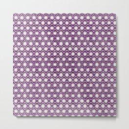 Asanoha Pattern Metal Print