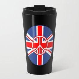 Brit Flag Peace Sign Roundel Travel Mug