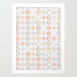 Pattern Rose Art Print