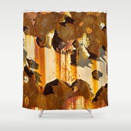 Paint on rust Shower Curtain