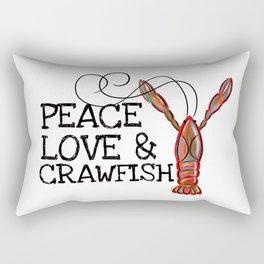 Peace, Love & Crawfish II Rectangular Pillow