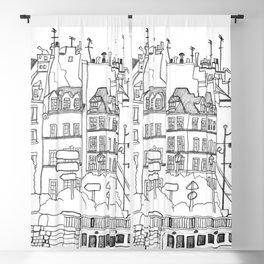 Paris Near Cathedral Notre-Dame Blackout Curtain
