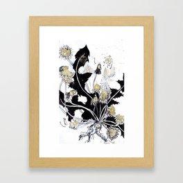 Gold Dandelions Framed Art Print