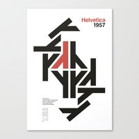 helvetica Canvas Prints featuring Helvetica by Maur Dsgn