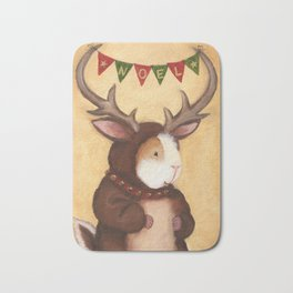 Ferdie the Christmas Reindeer Guinea Pig Bath Mat
