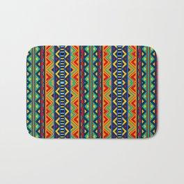 African tribal geometric pattern Bath Mat