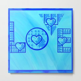 Blue Love Metal Print