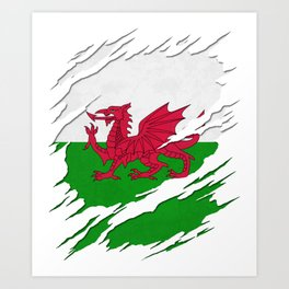 Unisex Joggers Hand Painted Brush Stroke Design of the Welsh Flag The Proud Flag of the Wales!