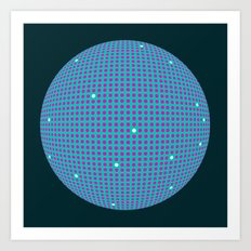 Sphere Blue Art Print