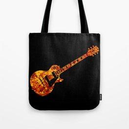 Electric Guitar Flames Tote Bag