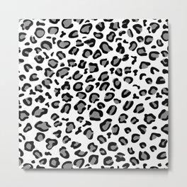 gray leopard print Metal Print