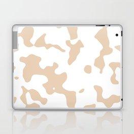 Large Spots - White and Pastel Brown Laptop & iPad Skin