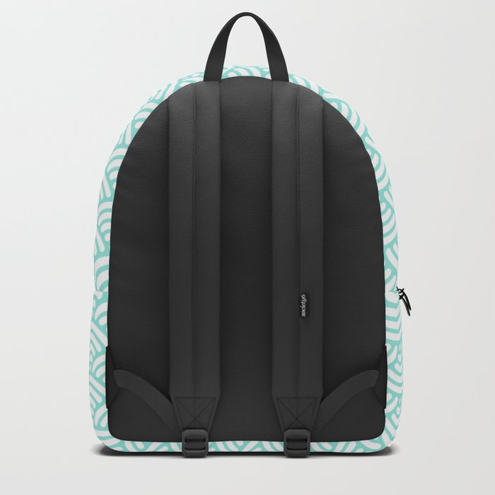 Blue Tiffany Mermaid Scales Backpack