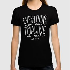 Picasso: Imagine II MEDIUM Womens Fitted Tee Black