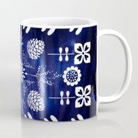 batik Mugs featuring Flora Batik by GypsyBohemian