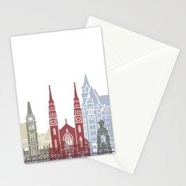 Ottawa skyline poster Stationery Cards