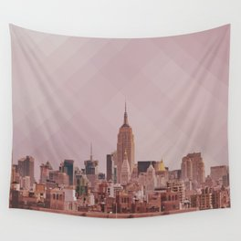 New York pixelized Sky. Wall Tapestry