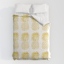PINEAPPLE - TAKE-TIME-TO-DO-WHAT-MAKES-YOUR-SOUL-HAPPY Comforters