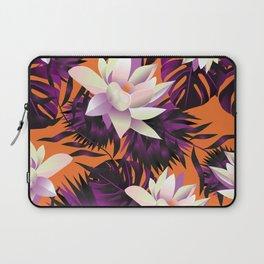 Botanic pattern orange Laptop Sleeve