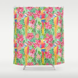 Land Of The Giant Hibiscus Shower Curtain