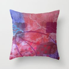 Rouge abstract Throw Pillow