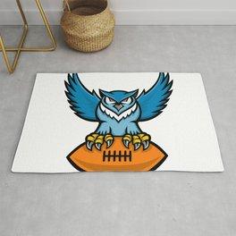 Great Horned Owl American Football Mascot Rug