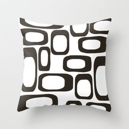 Mid Century Modern Shapes Black And White #society6 #buyart Throw Pillow
