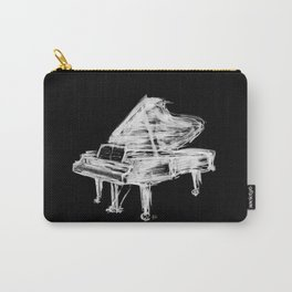 Black Piano Carry-All Pouch