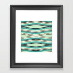 Sea Geometry Framed Art Print