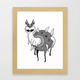 Wormy Framed Art Print