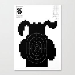 Retro Video Game Shooting Target - Hunting Dog Canvas Print