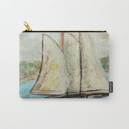 On a Cloudy Day - Impressionistic Art Carry-All Pouch