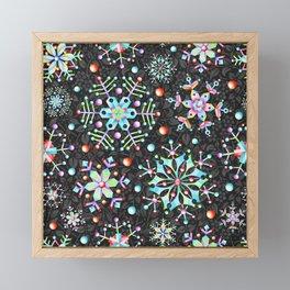 Snowflake Filigree Framed Mini Art Print