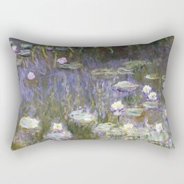 Water Lilies 1922 by Claude Monet Rectangular Pillow