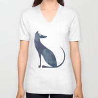mid century V-neck T-shirts featuring Mid-Century Canine by a. peterson