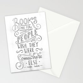 Mark Twain Quote (Black Text) Stationery Cards