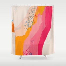 Abstract Line Shades Shower Curtain