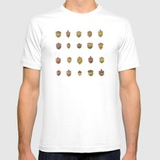 Acorn Collection Mens Fitted Tee White 2X-LARGE