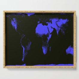 WoRLD MAP black & violet Serving Tray