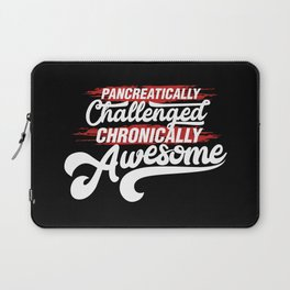 Pancreatically Challenged Chronically Awesome - Funny Illustration Laptop Sleeve