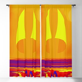 Hot Summer with May in May - shoes stories Blackout Curtain