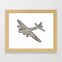 Boeing B-17 Flying Fortress airplane Framed Art Print