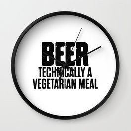 Beer Technically A Vegan Meal Wall Clock