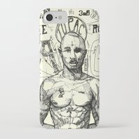 tupac iPhone & iPod Cases featuring Tupac: On the 3rd day HE ROSE A G. by Maddison Bond