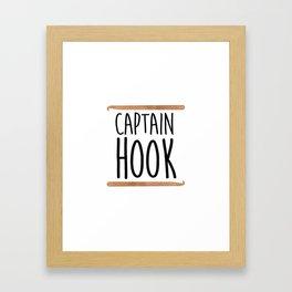 Captain Hook Framed Art Print