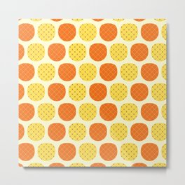 Dotty Pineapples - Singapore Tropical Fruits Series Metal Print