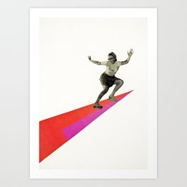 Skate the Day Away Art Print