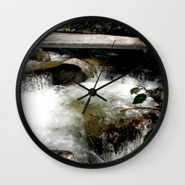 Cascades on Fall Creek in the Weminuche Wilderness, No. 1 of 2 Wall Clock